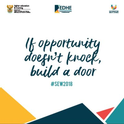 If opportunity doesn't knock, build a door