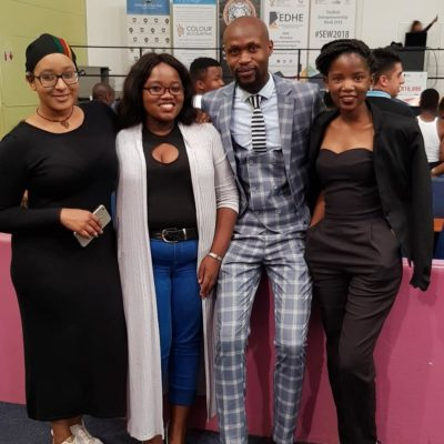 The students behind the event at University of Fort Hare East London campus