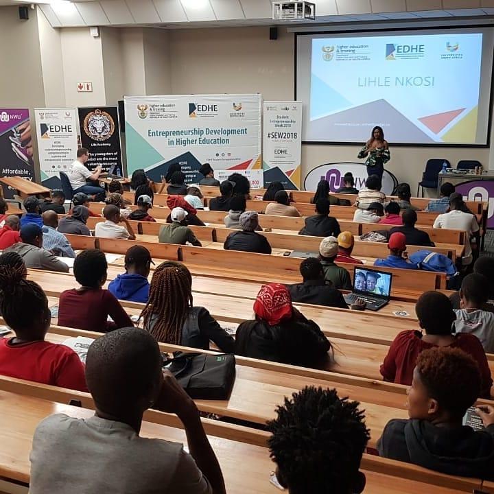 Lihle Nkosi inspiring the NWU-Mafikeng Campus students