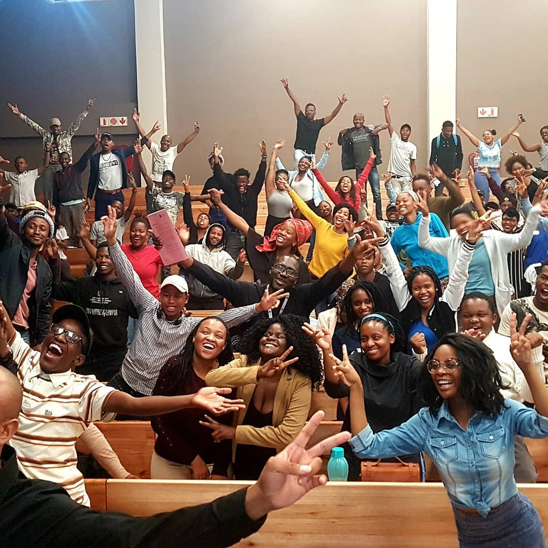 The room was lit by our celebrity speaker, Hezron Louw (NWU-Mafikeng campus)