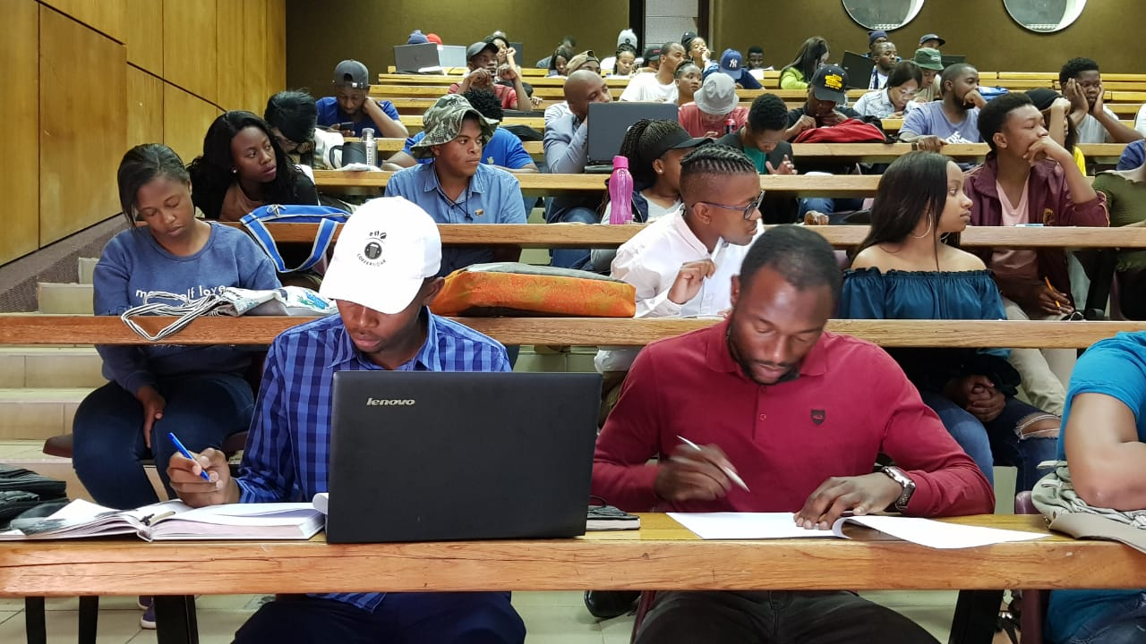 Entrepreneurs from Vaal University of Technology busy with their preparation for the pitching competition. #SEW2018
